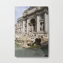Trevi Fountain without Water Metal Print