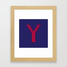 Letter Y - 36 Days of Type  Framed Art Print