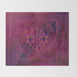 Holo Sri Yantra Throw Blanket