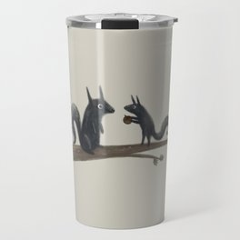 Autumn Squirrels Travel Mug