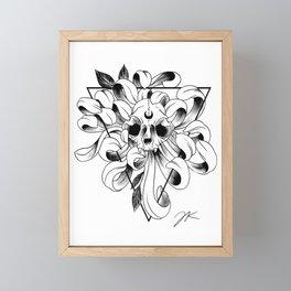 Lunar Triangle Framed Mini Art Print