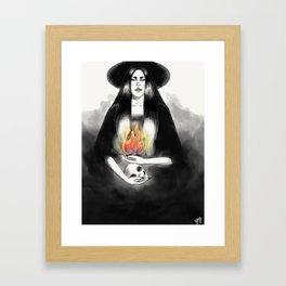 Death by Fire Framed Art Print