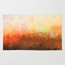 Cincinnati, Ohio Skyline - In the Clouds Rug