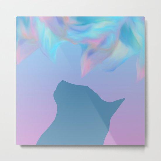 Cat Silhouette Design Metal Print