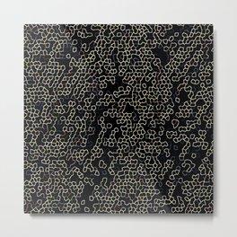 Neon Geometric Pattern Design Metal Print