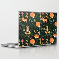 foxes Laptop & iPad Skins featuring Foxes by Julia Badeeva