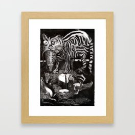 Cat & Rats Framed Art Print