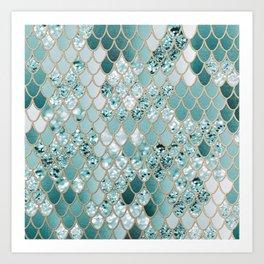 Mermaid Glitter Scales #3 #shiny #decor #art #society6 Art Print