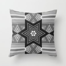 Black and white abstract pattern. Graphics.  Throw Pillow