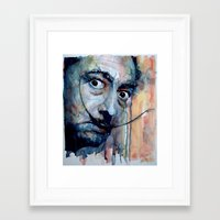 dali Framed Art Prints featuring Dali by Paul Lovering Watercolors