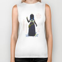 tarot Biker Tanks featuring Witch Series: Tarot Cards by LordofMasks