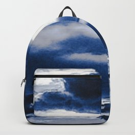 arctic blue landscape Backpack