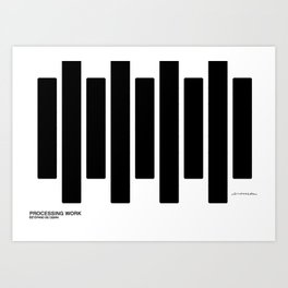 Paso de Cebra Art Print