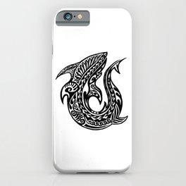 Shark Maori Tattoo iPhone Case