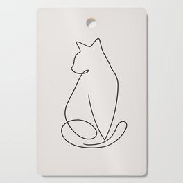 One Line Kitty Cutting Board