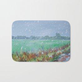 Snowing Bath Mat