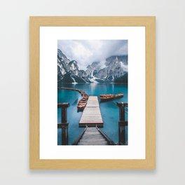 Mountain Lake Framed Art Print
