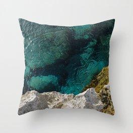 Cyprus Sea III Throw Pillow