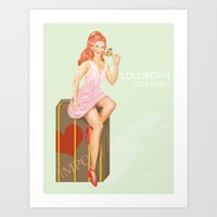 eugenia loli Art Prints featuring Pin up Loli by PristinM