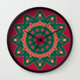 Mandala.Round decorative pattern. Lace circle design . Abstract colorful ornament. Wall Clock