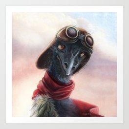 Queen Bess Emu Art Print