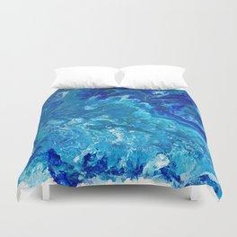 Dark Ocean Blue Duvet Cover