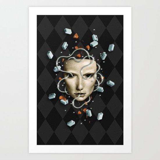 Equídeo Instantâneo Art Print