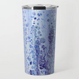 Acrylic Pour Blue Travel Mug