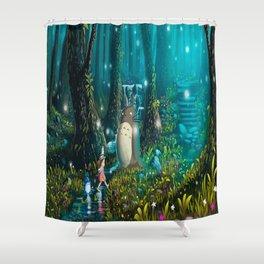 Totoro's In Jugle Shower Curtain