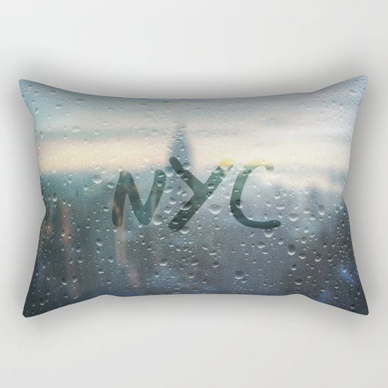 Rainy Day in NYC Rectangular Pillow