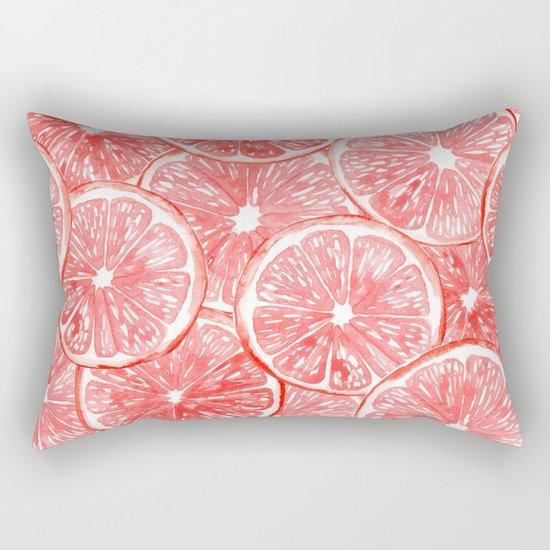 Watercolor grapefruit slices pattern Rectangular Pillow