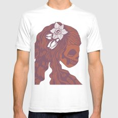 Death Becomes Hair Mens Fitted Tee White SMALL