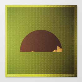 Music in Monogeometry : Modest Mouse Canvas Print