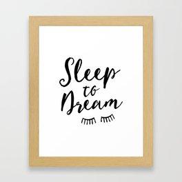 Sleep to Dream | by Kukka Framed Art Print