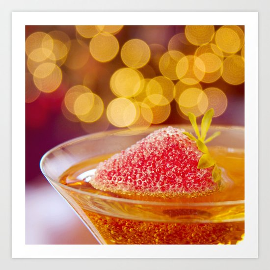 Strawberries and Champagne Art Print