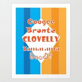 Coogee - Bronte - Clovelly - Tamarama - Bondi Art Print