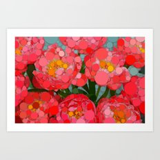 Pink Tulips On Parade! Art Print