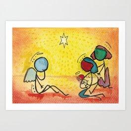 #cagsticks Nativity Scene 2 Art Print