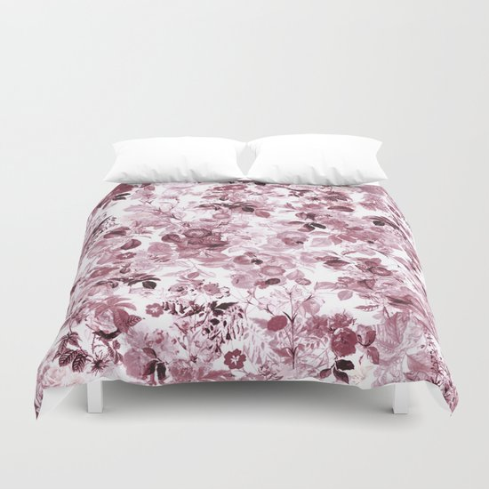 fleuri en rose Duvet Cover