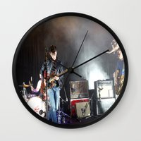 arctic monkeys Wall Clocks featuring Arctic Monkeys in Brooklyn, New York by The Electric Blue / YenHsiang Liang