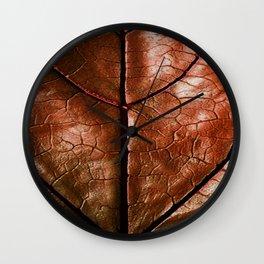MACHO MANS ART OLD LEATHERY BROWN LEAF Wall Clock