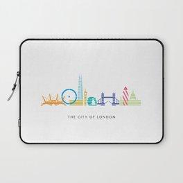 London Skyline White Laptop Sleeve