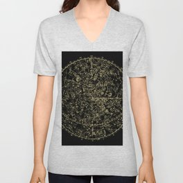 Astro Astronomy Constellations Astrologer Vintage Map Unisex V-Neck