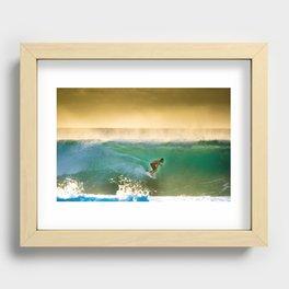 Ricardo Dos Santos, Sunset surfing on North Shore Hawaii  Recessed Framed Print
