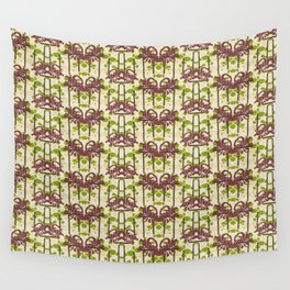 Modern Foral Chevron Wall Tapestry