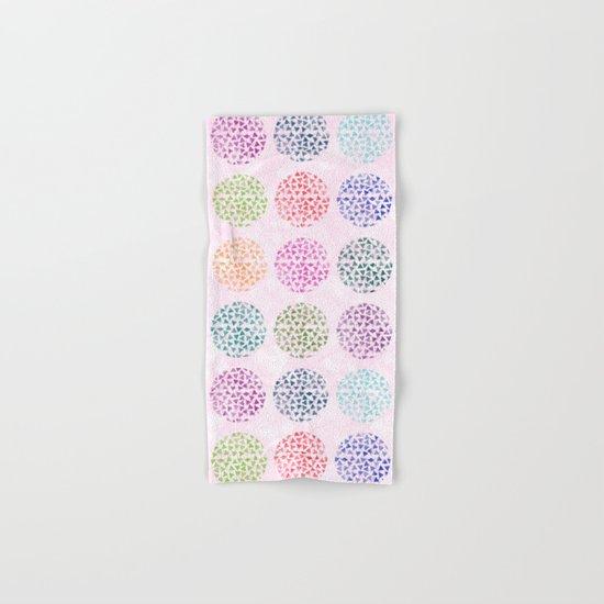 colorful geometric Hand & Bath Towel