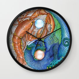 The Lobster and the Dragon, Chaos and Order Yin Yang Wall Clock