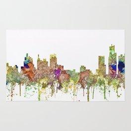 Detroit, Michigan Skyline - Faded Glory Rug
