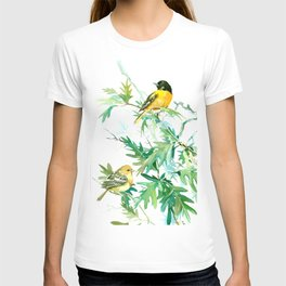 Baltimore Oriole Birds and White Oak T-shirt