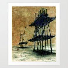 Yeryüzünde arta kalanlar Art Print
